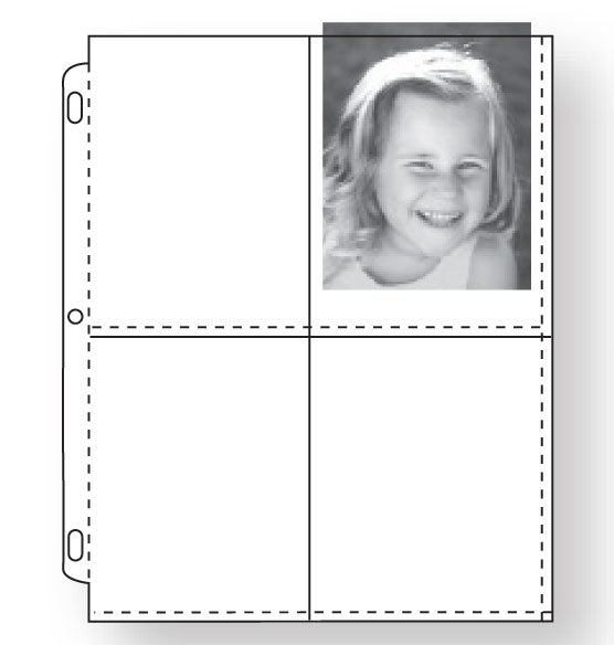 "3-ring Photo Pages - 3 1/2"" x 5"" holds 4 photos"