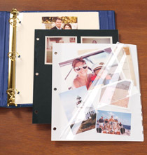 Photo Album Pages - Three-Ring Binder Ivory Sheet Protectors - Set Of 10