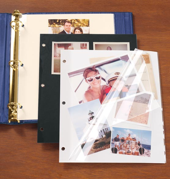 Three-Ring Binder Ivory Sheet Protectors - Set Of 10 - View 1
