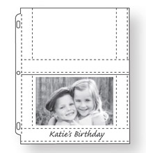 Photo Album Pages - Double Weight 4x6 Photo Pocket Pages With ID Labels