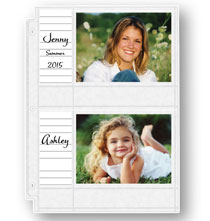 Photo Album Pages - Double Weight 4x6 Memo Photo Pocket Pages With ID Labels - Set Of 10
