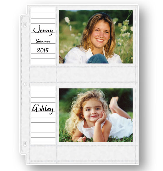 Double Weight 4x6 Memo Photo Pocket Pages With ID Labels - Set Of 10