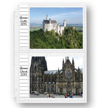 Photo Album Pages - Double Weight 5 x 7 Memo Photo Pocket Pages - Set Of 10