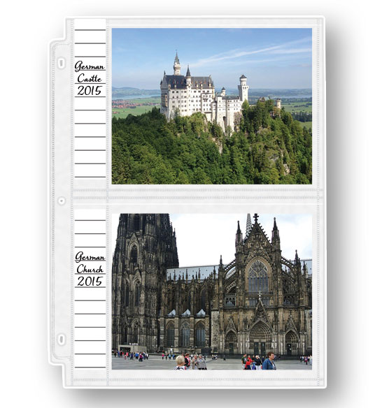 Double Weight 5 x 7 Memo Photo Pocket Pages - Set Of 10