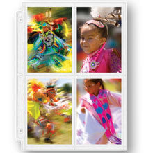 Photo Album Pages - Double Weight 4-Pocket Pages For 3.5 x 5 Photos - Set Of 10