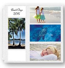 Photo Album Pages - 12x12 4x7 Memo Pocket Page
