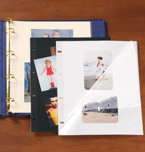 Photo Album Pages - Mylar® 4-Ring Sheet Protectors with Ivory Insert