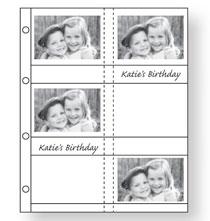 Photo Album Pages - Oversize Album Pages 3 1/2x5