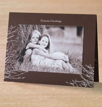 Silver Boughs Photo Christmas Card