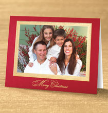Holiday Cards - Traditional Merry Christmas Photo Christmas Card