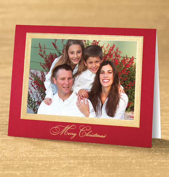 Traditional Merry Christmas Photo Christmas Card