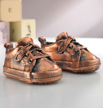 Decorative Accents - Bronze Baby Shoes