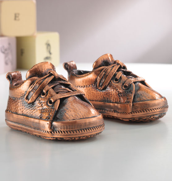 Bronze Baby Shoes - Baby Shoe Keepsake - Exposures