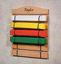 Personalized Unique Gifts - Personalized Karate Belt Rack