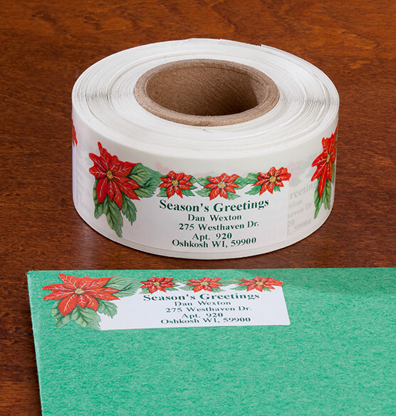 Poinsettia Address Labels 250 - View 1