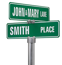 Outdoor Plaques & Decor - Personalized Street Sign, Two Sided