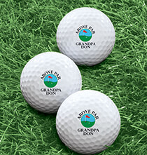 Gifts for the Sports Lover - Personalized Golf Balls - Set of 6