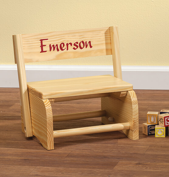 Wooden Personalized Children's Chair - View 1