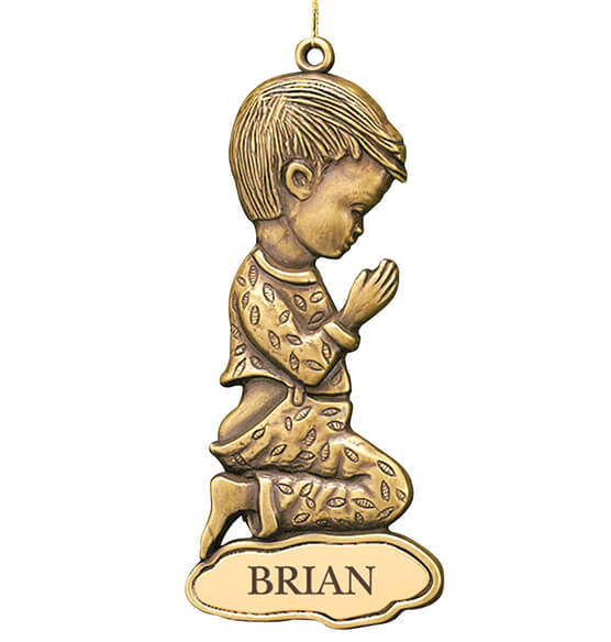 Personalized Bronze Boy Ornament