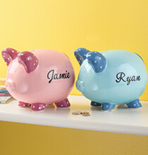 Room Décor - Personalized Children's Piggy Bank