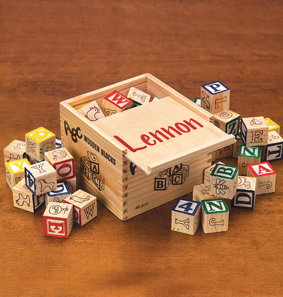 Personalized Box of Blocks - View 1