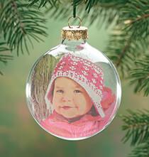 Glass Ball Photo Ornament