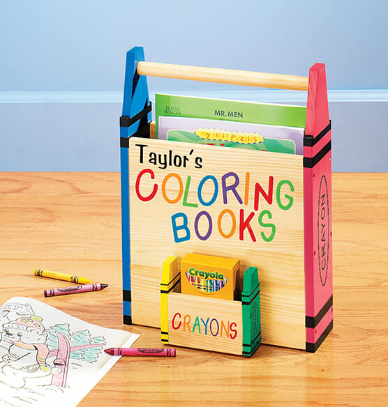 Personalized Coloring Book Caddy
