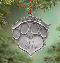 Holiday Ornaments - Personalized Pet Memorial Ornament