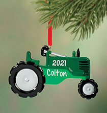 Personalized Tractor Ornament