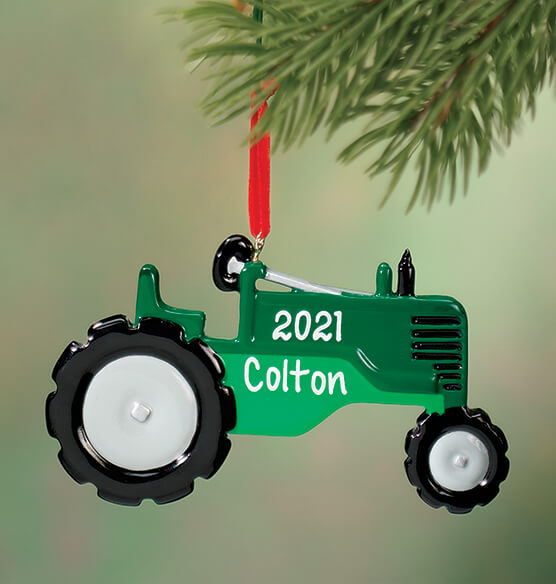 Personalized Tractor Ornament - View 1