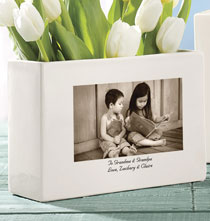 Gifts for Grandparents - Personalized Custom Ceramic Photo Vase
