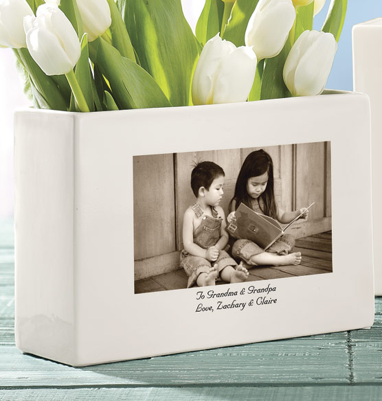 Personalized Custom Ceramic Photo Vase