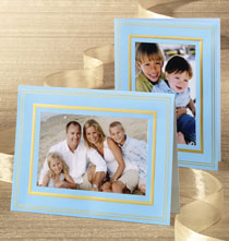 Luminous Borders Photo Christmas Card set of 18