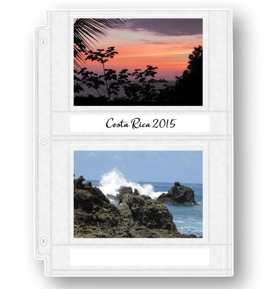 Double Weight 4x6 Photo Pocket Pages With ID Labels - View 1
