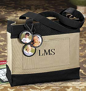 Exposures Monogramed Tote Personalized
