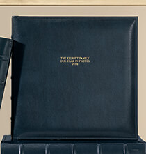 Platinum Leather Albums - Charter Personalized Memo Album