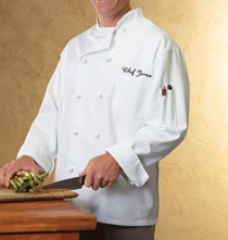 Entertaining for Him - Personalized Chef Jacket White