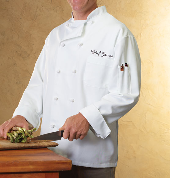 Personalized Chef Jacket White