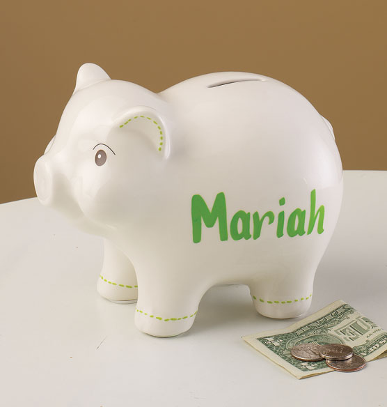 Classic Piggy Bank Personalized Tabletop Personalized