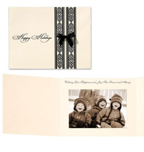 Elegant Filigree Photo Christmas Card Set of 18