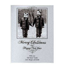 Christmas Calligraphy Single Panel Photo Card Set of 18