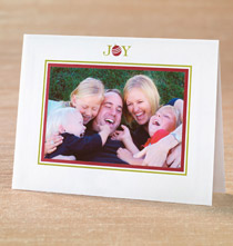 Photo Insert Cards - JOY! Photo Christmas Card Set of 18