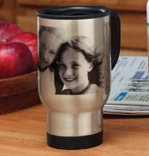 Custom Photo Travel Mug and Water Bottle