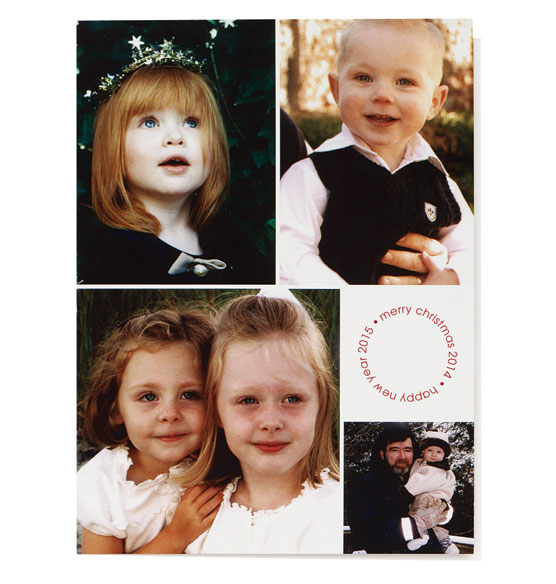 * 4-Photo Collage Card Set of 20
