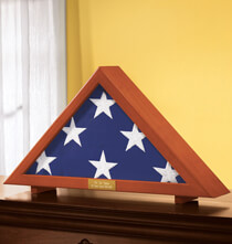 Gifts for Veteran's Day - Personalized Veterans Flag Display Case     XL