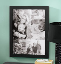 Gifts Under $100 - Custom 5 Photo Collage Canvas 11 x 17 Unframed