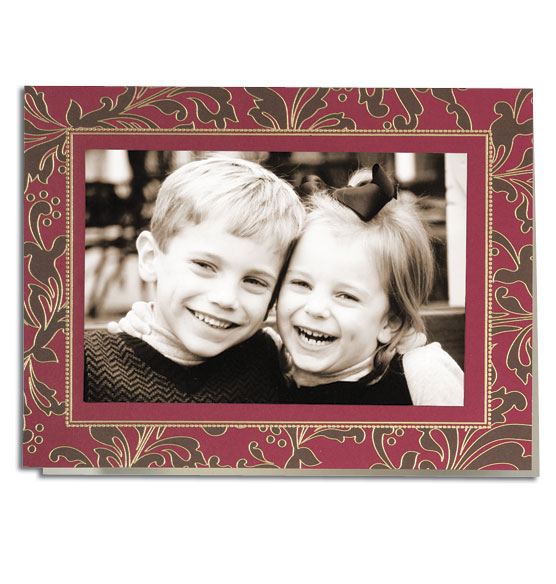 Festive Flourish Photo Christmas Card Set of 18