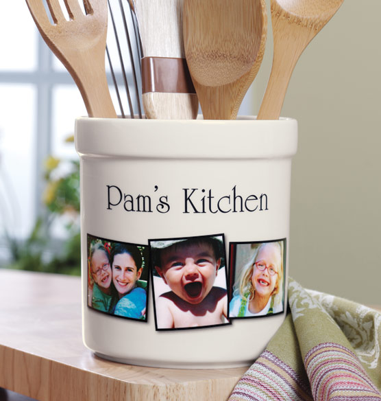 Custom Photo Utensil Crock