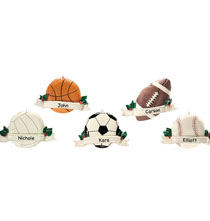 New - Personalized Sports Ornament