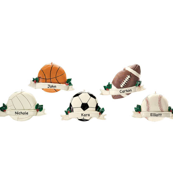 Personalized Sports Ornament - View 1